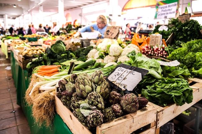 produits du marché ou du supermarché