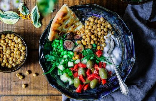 assiette végé manger moins de viande