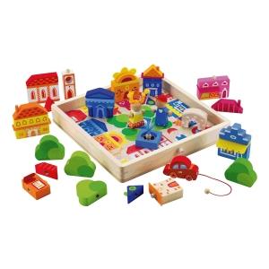 puzzle ville en bois