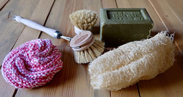 kit vaisselle à la main zéro déchet