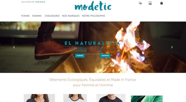 modetic mode éco-responsable