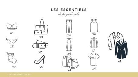 essentiels garde-robe