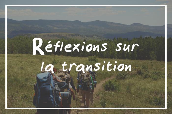 réflexions sur la transition