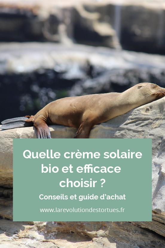 crème solaire naturelle efficace