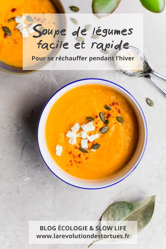 soupe de légumes d'hiver bio