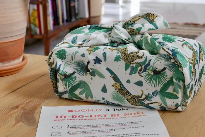 paké furoshikis emballages cadeaux réutilisables