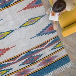 tapis tissu recyclé cadeau durable
